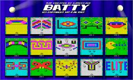 Game map for Batty on the Sinclair ZX Spectrum.