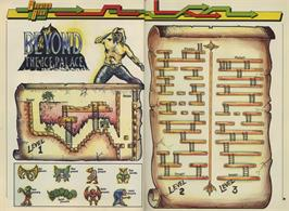 Game map for Beyond the Ice Palace on the Commodore 64.