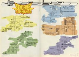 Game map for Bionic Commando on the Sinclair ZX Spectrum.