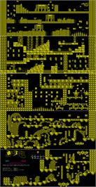 Game map for Black Tiger on the Commodore 64.