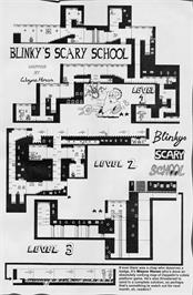 Game map for Blinky's Scary School on the Commodore 64.