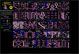 Game map for Bounty Bob Strikes Back! on the Commodore 64.