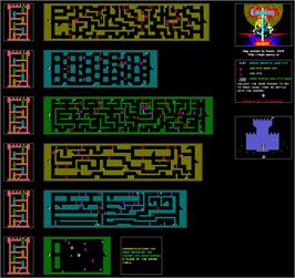 Game map for Cavelon on the Commodore 64.