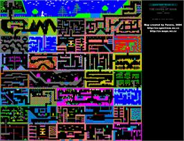 Game map for Caves of Doom on the Amstrad CPC.
