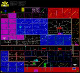 Game map for Chuckie Egg II on the Commodore 64.