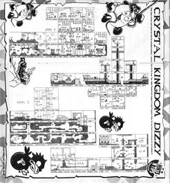 Game map for Crystal Kingdom Dizzy on the Commodore Amiga.