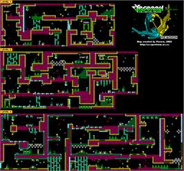 Game map for Cybernoid: The Fighting Machine on the Commodore Amiga.