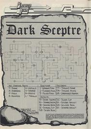 Game map for Dark Sceptre on the Sinclair ZX Spectrum.
