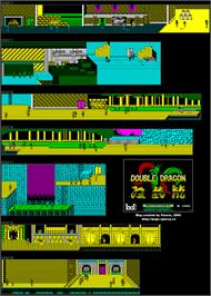 Game map for Double Dragon on the MSX 2.