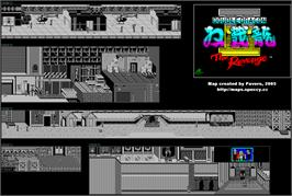 Game map for Double Dragon II: The Revenge on the Sinclair ZX Spectrum.