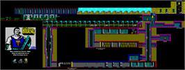 Game map for El Capitán Trueno on the Sinclair ZX Spectrum.