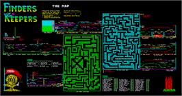 Game map for Finders Keepers on the MSX 2.