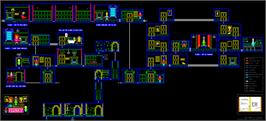 Game map for Flunky on the Sinclair ZX Spectrum.