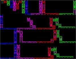 Game map for H.E.R.O. on the Sinclair ZX Spectrum.