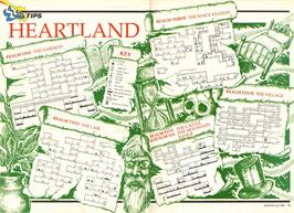 Game map for Heartland on the Amstrad CPC.