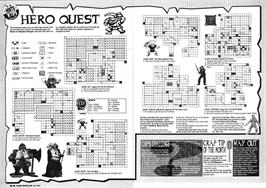 Game map for Hero Quest on the Sinclair ZX Spectrum.