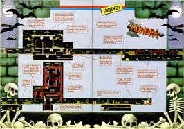 Game map for Hundra on the MSX 2.