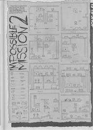 Game map for Impossible Mission II on the Commodore 64.