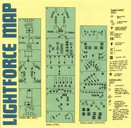 Game map for Lightforce on the Sinclair ZX Spectrum.