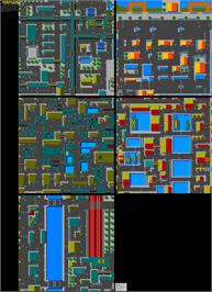 Game map for Miami Chase on the Commodore 64.