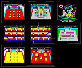 Game map for Mikie on the Sinclair ZX Spectrum.