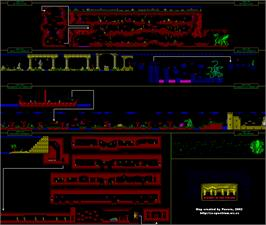 Game map for Myth: History in the Making on the Amstrad CPC.