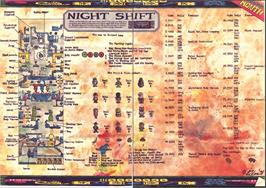 Game map for Night Shift on the Amstrad CPC.