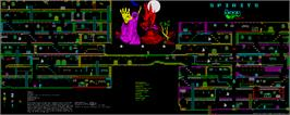 Game map for No Limits on the Sinclair ZX Spectrum.