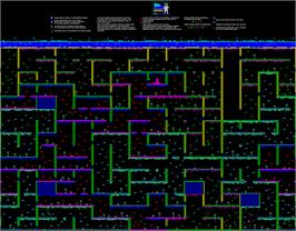 Game map for Nodes of Yesod on the Commodore 64.