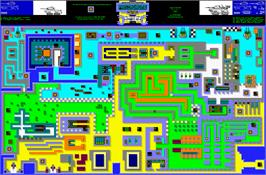 Game map for Panzadrome on the Sinclair ZX Spectrum.