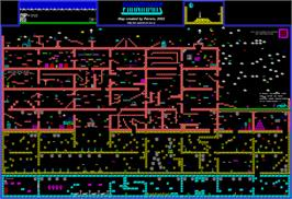 Game map for Phantomas on the Sinclair ZX Spectrum.