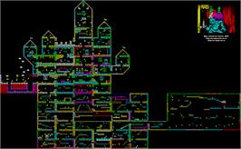 Game map for Phantomas 2 on the MSX 2.