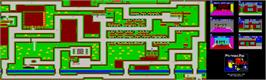 Game map for Postman Pat on the Atari ST.