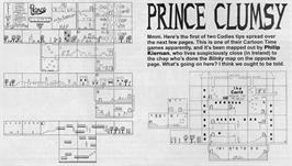Game map for Prince Clumsy on the Sinclair ZX Spectrum.