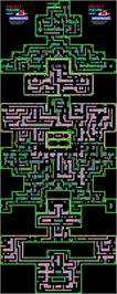 Game map for Project Future on the Sinclair ZX Spectrum.