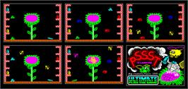 Game map for Pssst on the Sinclair ZX Spectrum.