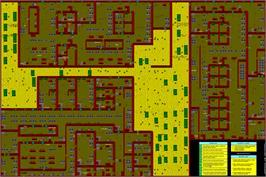 Game map for Rambo III on the Commodore Amiga.