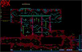 Game map for Rex on the Sinclair ZX Spectrum.