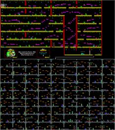 Game map for Robot Messiah on the Sinclair ZX Spectrum.