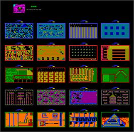 Game map for Rockford: The Arcade Game on the Amstrad CPC.