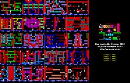 Game map for Rockman on the Sinclair ZX Spectrum.