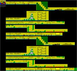 Game map for Rolling Thunder on the Sinclair ZX Spectrum.