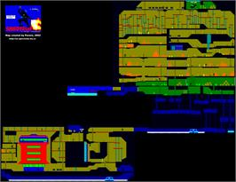 Game map for Saboteur II on the Sinclair ZX Spectrum.