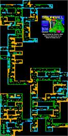 Game map for Scumball on the Sinclair ZX Spectrum.