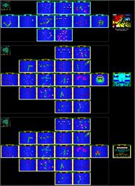 Game map for Smash T.V. on the Sinclair ZX Spectrum.