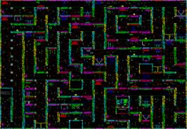 Game map for Soul of a Robot on the MSX 2.