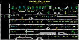 Game map for Spellbound on the Sinclair ZX Spectrum.