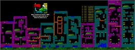 Game map for Steg the Slug on the Sinclair ZX Spectrum.