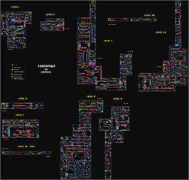 Game map for Terminus: The Prison Planet on the MSX 2.