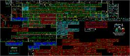 Game map for The Addams Family on the Nintendo SNES.